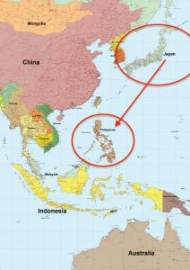 フィリピンのマニラへの飛行時間