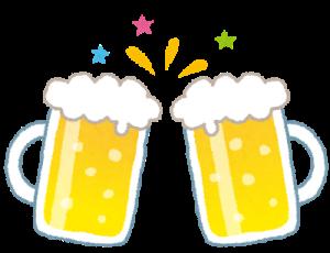 オンライン飲み会で乾杯ビール